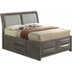 Marilla King Upholstered Captain's Bed