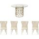 Salon 5-pc Dining Set w/ Wing Chair