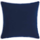 Mina Victory 2-Sided Solid Corded Navy Outdoor Throw Pillow