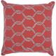 Mina Victory Woven Ropes Coral/Aqua Outdoor Throw Pillow