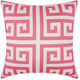 Mina Victory Greek Key Poly Hot Pink Outdoor Throw Pillow