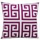 Mina Victory Greek Key Poly Lilac Outdoor Throw Pillow