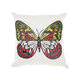 Mina Victory Green Butterfly White Outdoor Throw Pillow
