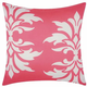 Mina Victory Damask Hot Pink Outdoor Throw Pillow