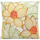 Mina Victory Two Sunflowers White Outdoor Throw Pillow