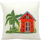 Mina Victory Carribean Home White Outdoor Throw Pillow