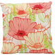 Mina Victory Primrose Flowers White Outdoor Throw Pillow