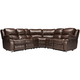 Bryant II 6-pc. Leather Reclining Sectional Sofa