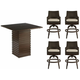 Epicenters Cypress 5-pc. Outdoor Bar-Height Dining Set