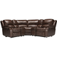 Bryant II 5-pc. Leather Power-Reclining Sectional Sofa