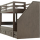 Kieran Twin-Over-Twin Bunk Bed w/Storage & Staircase