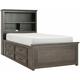 Kieran Full Platform Bookcase Bed w/ 2-Side Storage