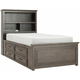 Kieran Full Platform Bookcase Bed w/ 1-Side Storage