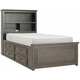 Kieran Twin Platform Bookcase Bed w/ 2-Side Storage
