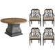 Arch Salvage Lyon 5-pc. Round Outdoor Dining Set w/ Arm Chairs