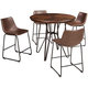 Brigham 5-pc. Counter-Height Dining Set
