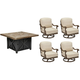 Arch Salvage Quentin 5-pc. Outdoor Chat Set