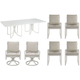 Cityscapes Empire 7-pc. Outdoor Dining Set w/ Upholstered Armchairs and Swivel Rocker Armchairs