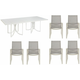 Cityscapes Empire 7-pc. Outdoor Dining Set w/ Mesh Armchairs