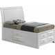 Marilla Twin Upholstered Captain's Bed