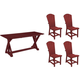 Lakeside 5-pc. Outdoor Dining Set w/ Side Chair