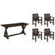 Lakeside 5-pc. Outdoor Dining Set w/ Armchairs