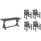 C.r. Plastic Products, Inc. Lakeside 5-pc. Dining Set W/ Armchairs