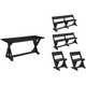 Lakeside 5-pc. Outdoor. Dining Set w/ Back Chairs