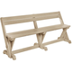Lakeside Dining Table Bench w/ Back