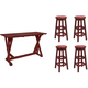 C.r. Plastic Products, Inc. 5-pc. Bar-height Dining Set
