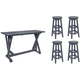 Lakeside 5-pc. Bar-Height Dining Set