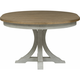 Farmhouse Reimagined Pedestal Dining Table w/ Leaf