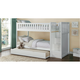 Carissa Twin Bunk Bed with Trundle & Storage Staircase