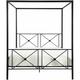 Gable Queen Canopy Platform Bed