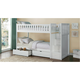 Carissa Twin Bunk Bed with Storage & Staircase