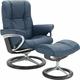 Stressless Mayfair Medium Leather Reclining Chair and Ottoman