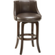 Napa Valley Leather Swivel Counter Stool - Brown