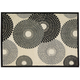 Graphic Illusions Parchment Sunburst Area Rug, 5'3 x 7'5