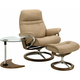 Stressless Sunrise Large Leather Chair, Ottoman and USB Table