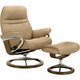 Stressless Sunrise Large Leather Chair and Ottoman