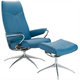 Stressless City Leather Chair and Ottoman