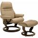 Stressless Sunrise Medium Leather Chair and Ottoman