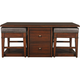 Lawson Coffee Table w/ 2 Storage Benches