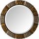 Metallic Round Wall Mirror