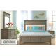 Myra 4-pc. Queen Upholstered Bedroom Set w/ Natural Nightstand