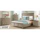 Myra Upholstered 4-pc. King Bedroom Set W/ 3-drawer Nightstand
