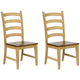 Brook Ladder Back Side Chair: Set of 2