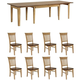 Brook 9-pc. Dining Set w/ Fancy Chairs