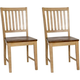 Brook Slat Back Chair: Set of 2
