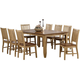 Brook 9-pc. Dining Set w/ Slat Back Chairs